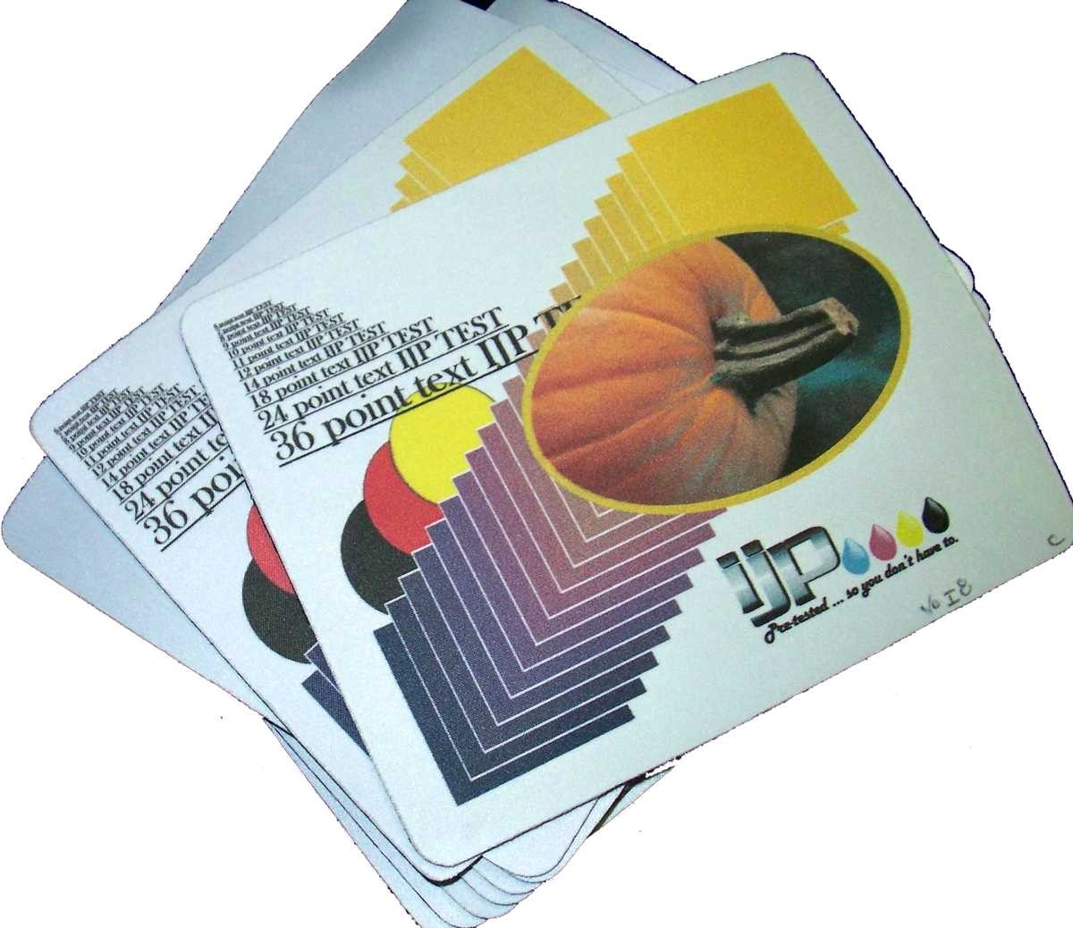 InkJetPrintables Mouse Pad Test Print