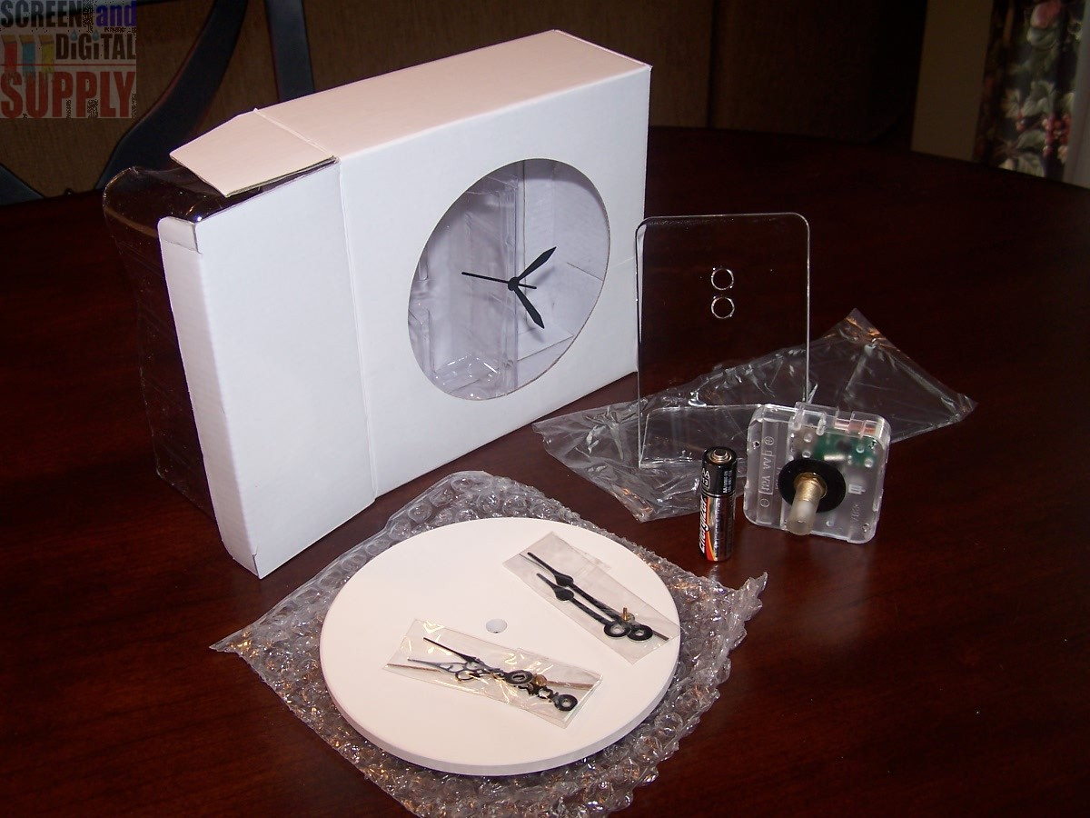 "InkJetPrintables 5.25"" Coaster Clock Kit"