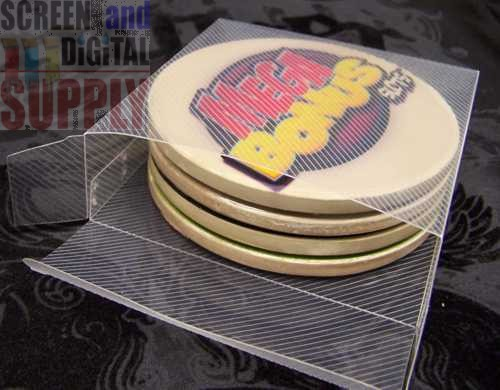 "InkJetPrintables ""QUAD"" Coaster Gift Box"