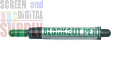 First Print Block Out Pen GREEN water solable