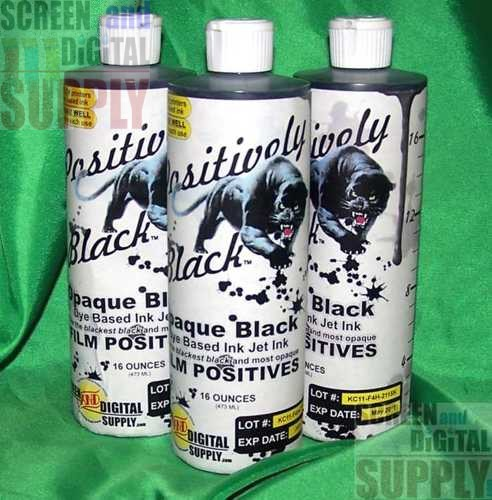 Positively Black Inkjet Ink for film positives