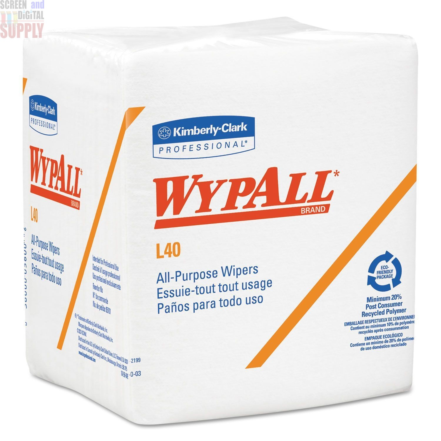 WypALL Kimberly Clark Industrial Cleaning Wipers 05701 L40