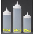 Jessup Empty Squeeze Bottles with Cone Dispenser Top