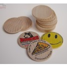 "InkJetPrintables 1.5"" Dia Wooden Nickel Poker Chip"