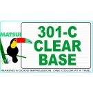 Matsui 301-C Clear Base ECO-Series Waterbased Textile