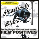 POSITIVELY BLACK *Waterproof* Clear Inkjet Film