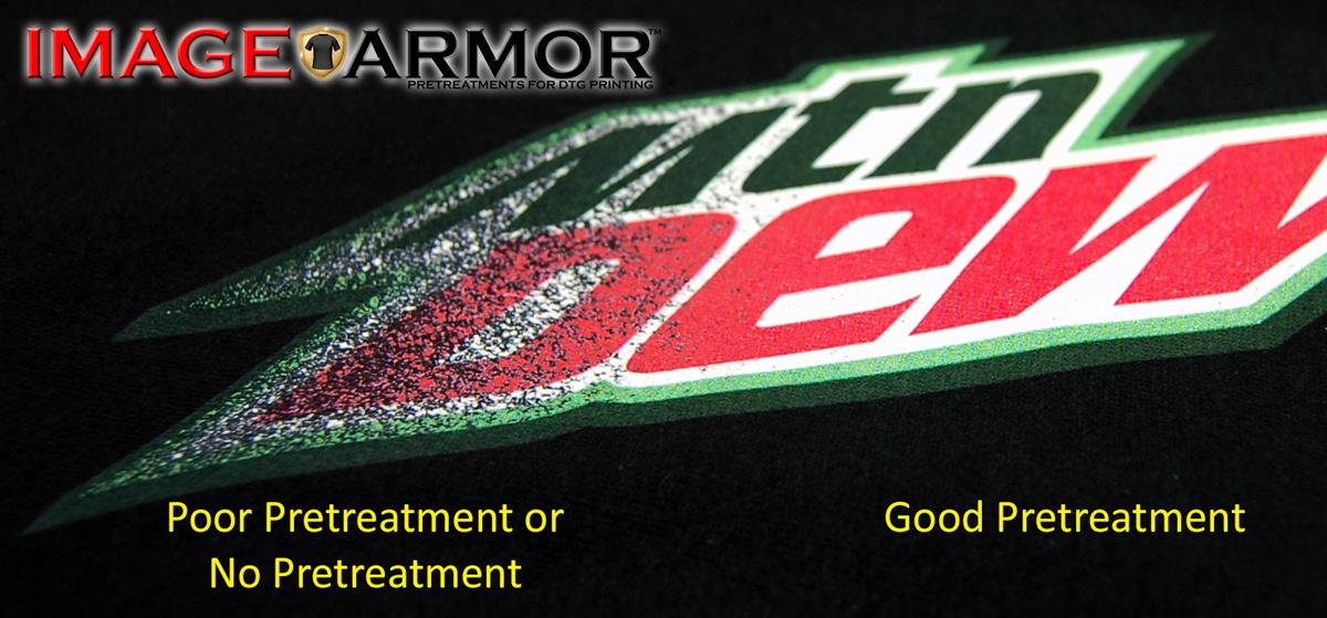 Image armor proper pretreat coverage Mountain Dew