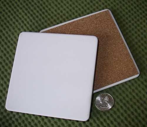 """InkJetPrintables 4.25"""" x 4.25"""" SQUARE Ceramic Coaster"""