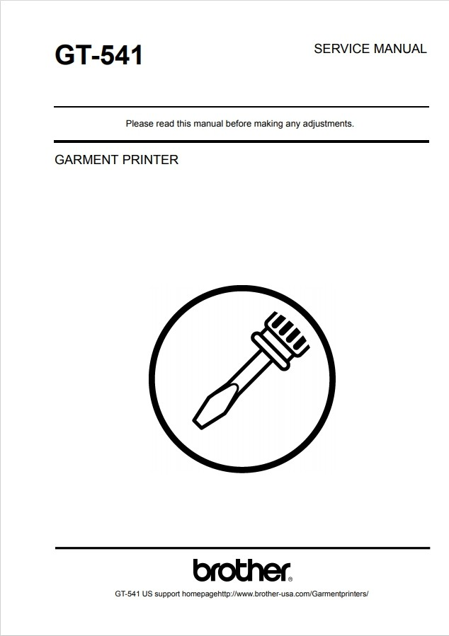 Brother GT-541 Technician Service Manual