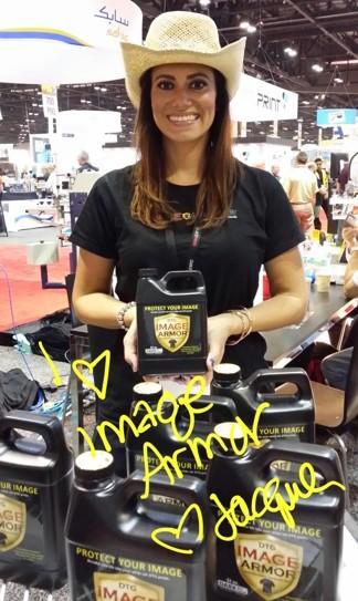 Spokesmodel Jacque Vanatta at SGIA Orlando 2013