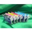 Epson 1400/1430 Refillable Cartridges, Set of 6 (EMPTY) T079