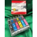 Epson 1400,1430 Refillable Cartridges, Set of 6 (FILLED with Positively Black ink for film positives)
